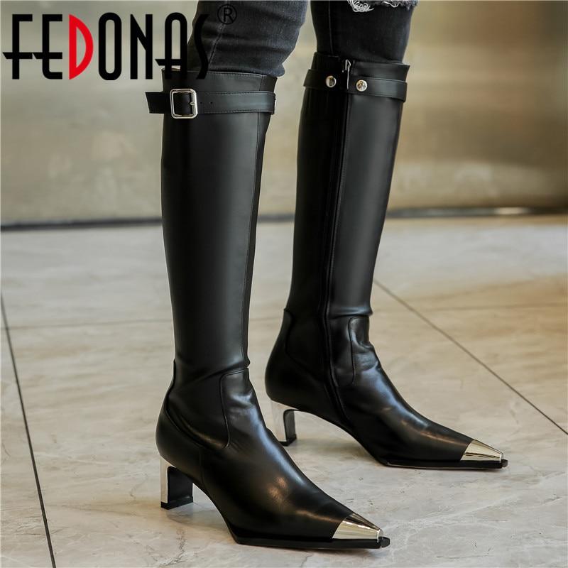 Fedonas Knee High Boots Women Autumn