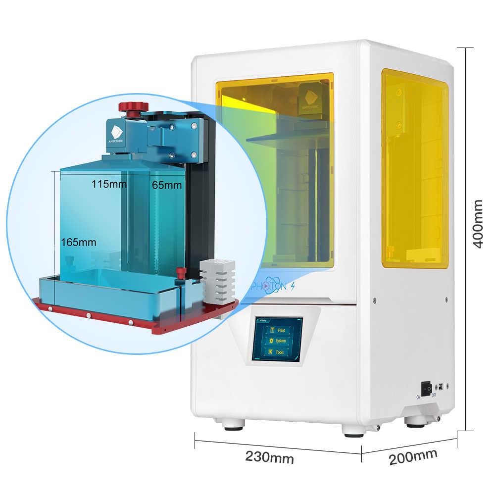 Impresora 3d ANYCUBIC photon-s de 2 colores con pantalla UV de resina de 405nm, 2K, eje Z Dual 3d drucker impresora 3d 3d