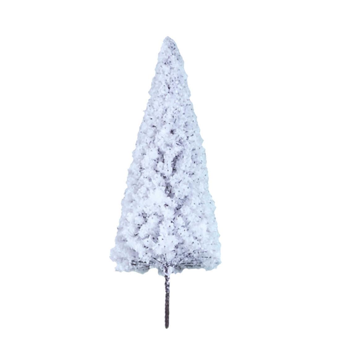 20 sztuk 6 cm/8 cm/10 cm HO 1: 85 skala plastikowe zimowe dekoracje cedrowe drzewo pociąg kolejowy architektura piaskownica stołowa model drzewa