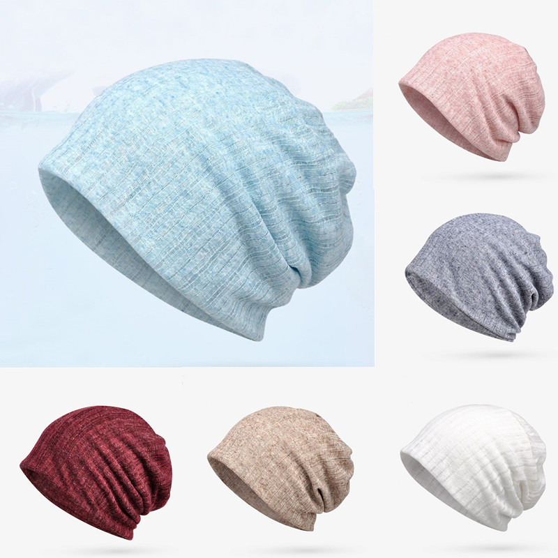 Knitted Hat Winter Hats for Women Beanies Men Mask Striped Winter Beanie s Bonnet Warm Baggy Thick Hat