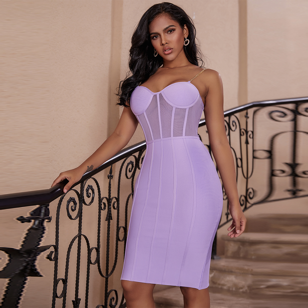 Ocstrade Vestido Bandage Midi Dress Autumn Winter 2020 New Women 
