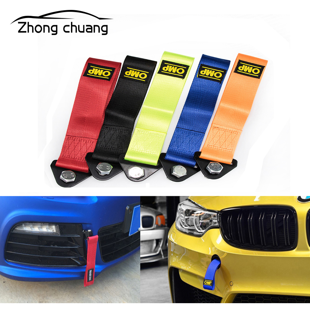 For Car Tuning Trailer Traction Rope High Strength Nylon Racing Universal Trailer Traction Belt Car Decoration Belt Car Trailer