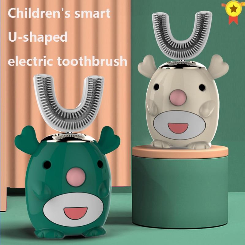 Smart 360 degrés XioMi brosse à dents électrique enfants silicone automatique ultrasons dents brosse à dents dessin animé modèle enfants