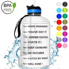 Gallon Water Bottle with Motivational Measurements
