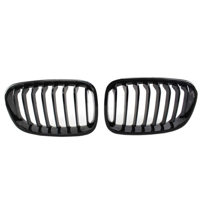 Bright Black Front Kidney Grill Grille For Bmw F20 F21 1 Series 2011 2014|Racing Grills| |  - title=