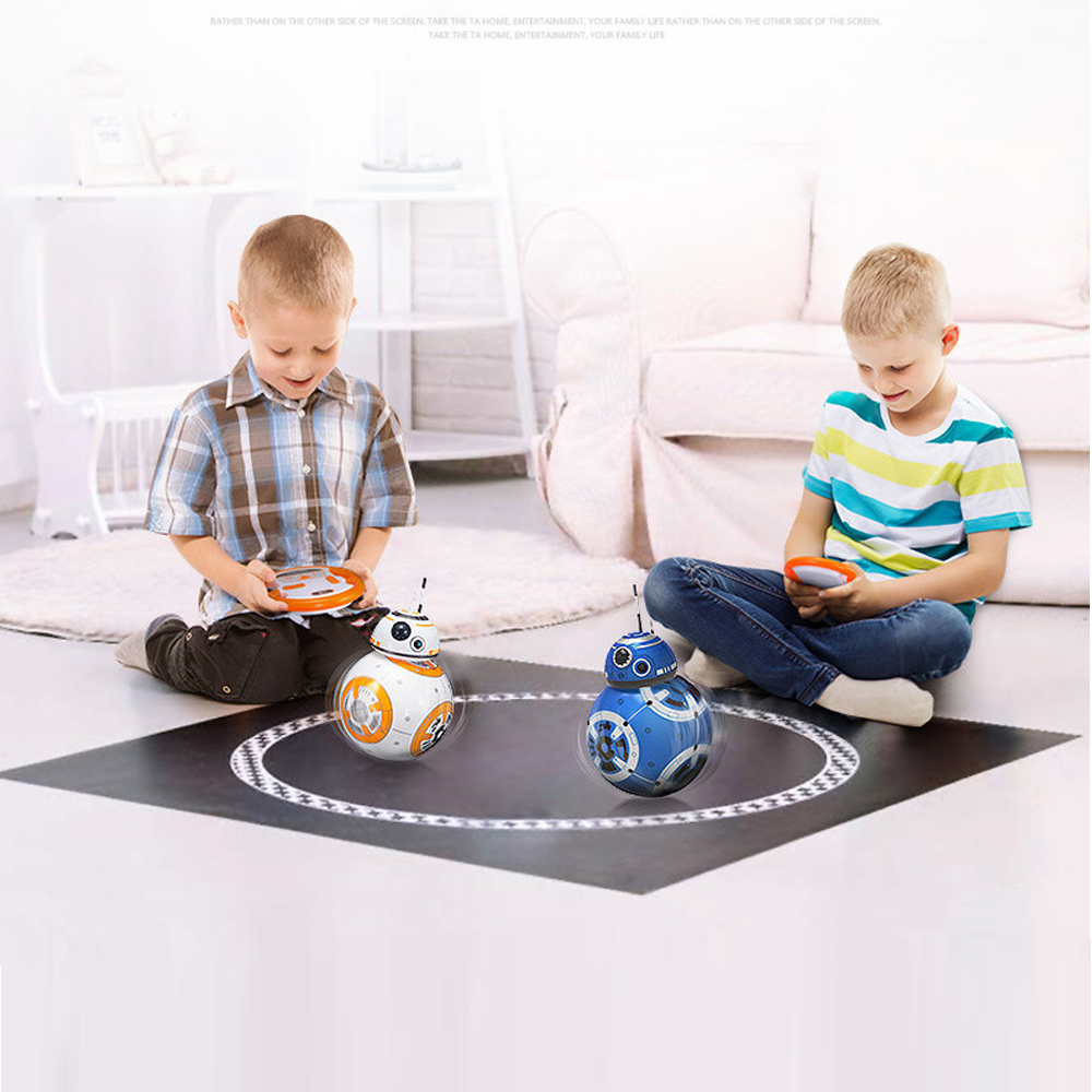 BB-8 <font><b>RC</b></font> <font><b>Robot</b></font> Remote Control <font><b>BB8</b></font> Action Figure Monster Movie BB 8 Ball Toy Intelligent Kid Birthday Gift Indoor Funny Play Game image