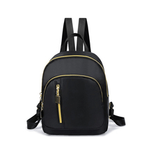 Fashion Women Nylon Backpack Preppy Style Casual Mini Travel Shoulder Bags Solid Women Backpack School Bag Bookbag preppy style hot movie designer bag harry potter backpack satchels cool printing nylon backpack casual school book bag for teens