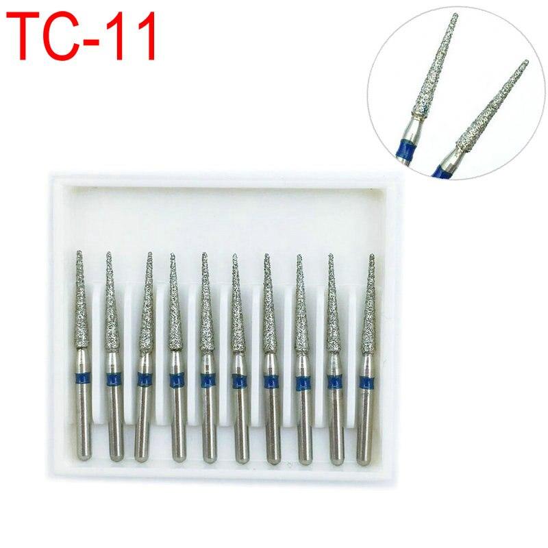 10pcs/box Dental Diamond Burs FG 1.6mm For High Speed Handpiece Dental Burs 1.6mm  TC-11