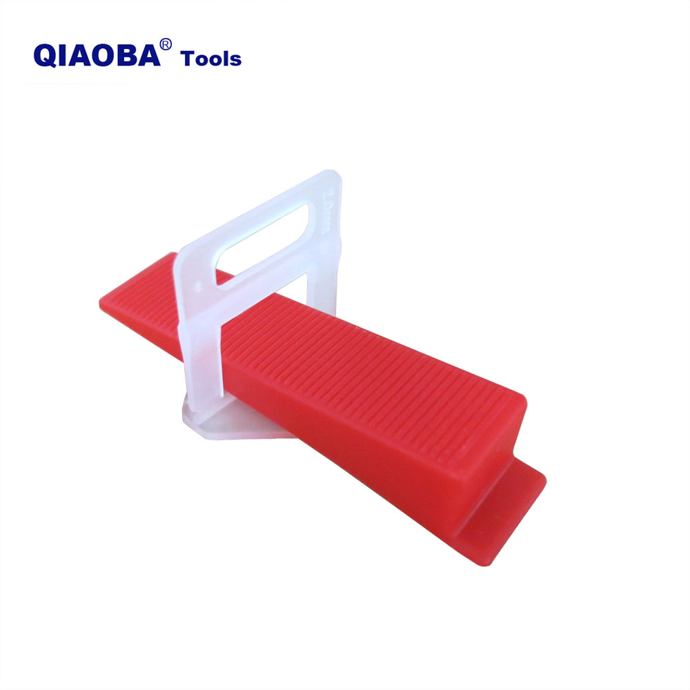 401pcs Tile Leveling System 2mm 300pcs Clips+100pcs Wedges +1piece Plier Plastic Tiling Tools Tile Spacer