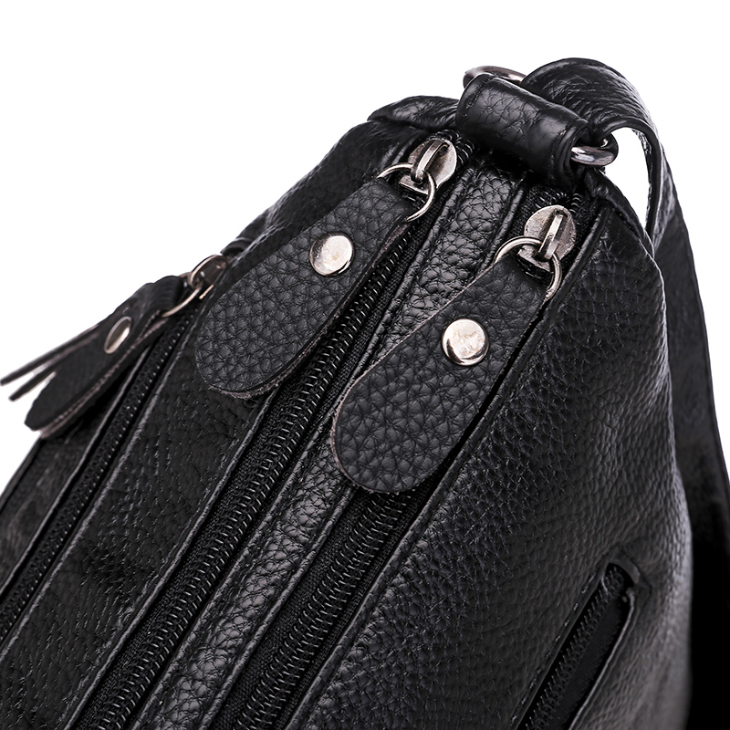Soft Leather Women Shoulder Bag Casual Women's Crossbody Bag Purse Female Handbags Washed Leather Messenger Bag Bolsa Sac a Mai