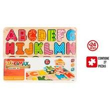 Puzzle wooden letters Alphabet 27 pcs - Regalos baby kids newborn funny activities, teaching, Games application