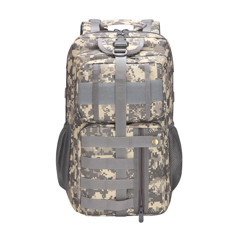 2018 New Style Tactical Camouflage Backpack 30L Outdoor Multi-functional Sports Hiking Bag Casual Backpack 3P Backpack