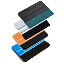 EHDIS 4pcs Vinyl Car Wrap Squeegee Carbon Foil Film Wrapping No Scratch Suede Felt Scraper Window Tint Water Wipe Cleaning Tool
