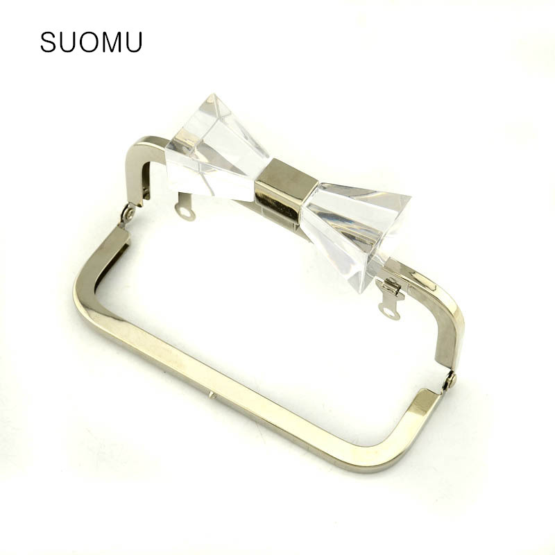 Metal Purse Frame Women Handle Clutch Bag Accessories DIY HandBag Frame Bow-knot Clasp Lock Hardware Wholesale