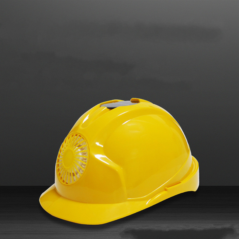 Safety helmet with fan ABS construction project national standard anti smash and anti impact electric fan solar energy hat