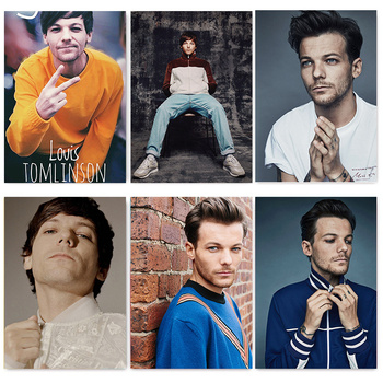Canvas Painting British Singer Louis Tomlinson Portrait Posters and Prints Wall Art Pictures for Living Room Decor Wall Stickers image