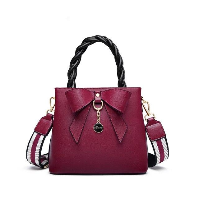 FOXER Ulty Ladies Leather Shoulder Bag Dark Pink