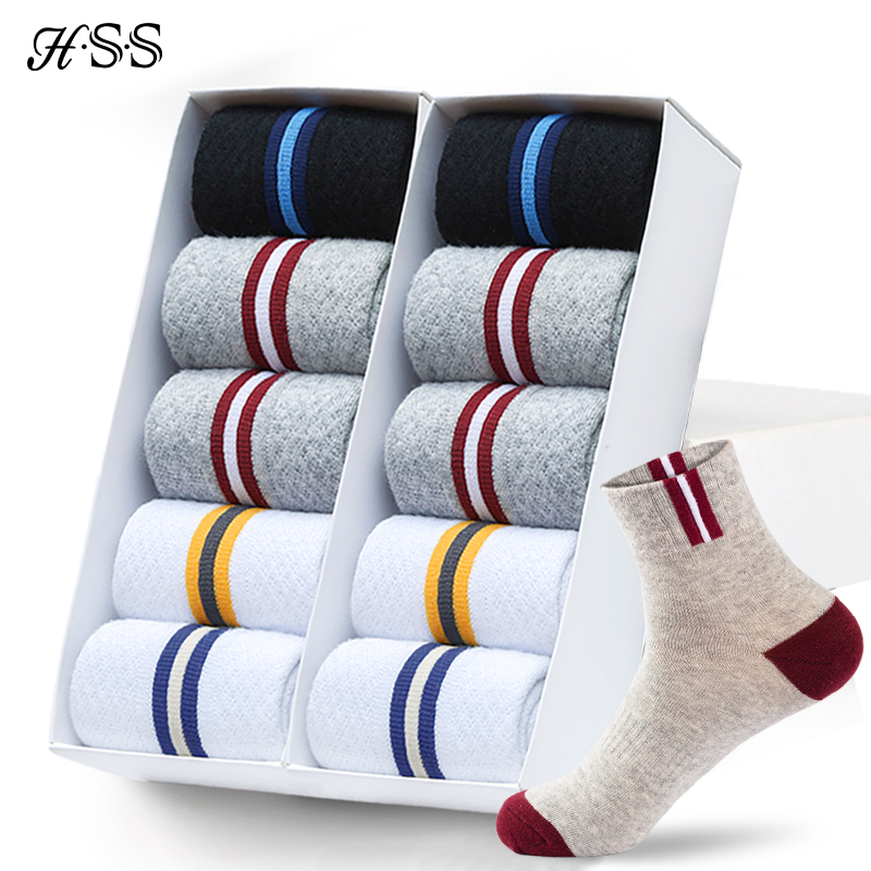 10Pairs/Lot HSS Brand Cotton Men Socks High Quality Hollow Breathable Spring Autumn Long Sports Socks For Male Meias Wholesale