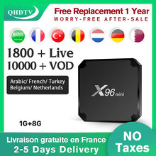X96 mini IPTV France Spain Android smart box with QHDTV 1 Year Code IPTV Subscription 10000+VOD S905W Italy French UK IPTV Arab x96 android 7 1 box with neotv iptv yearly code x96 mini 4k tv box with 4800 vod live iptv us uk hdmi 2 0 x96mini smart tv