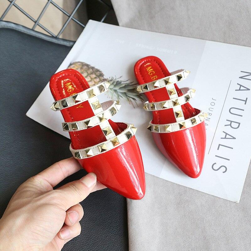 JUSTSL 2017 Spring Style PU Rivet Girls Shoes Fashion Kids Girls Princess Shoes Children Single Fashion Sneakers