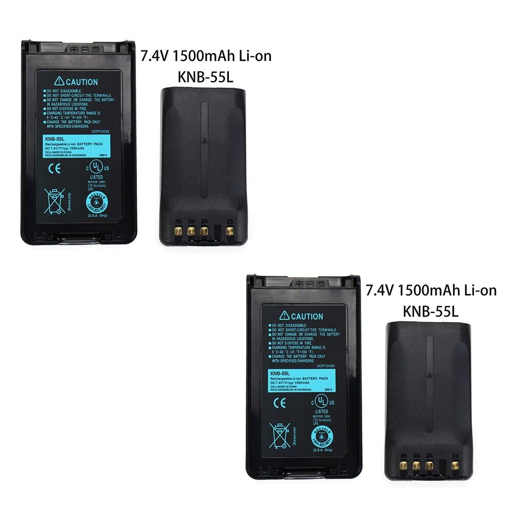 2x Pack - KNB-55L Battery Replacement (1500mAh, 7.4V, Li-Ion) For Kenwood TK-3360 TK-3160 TK-2170 KNB-57L TK-3173 TK-3170 NX-320