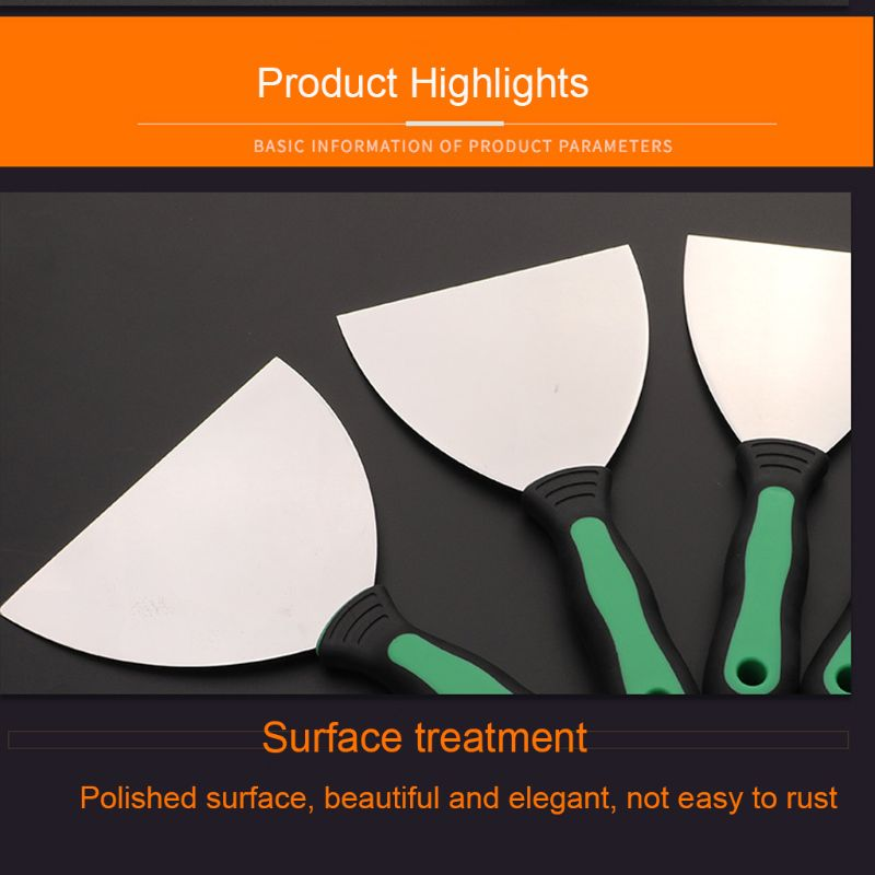 6 Pcs Putty Knives Set Scrapers and Filling Knives Cement Shovel Blade with Anti-slip Plastic Handle DIY Tool Wholesale