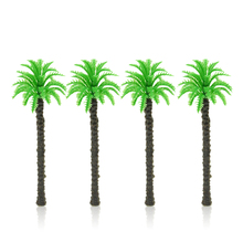 купить 100pcs 9cm Scale Model Palm Trees ABS Plastic Miniature Architecture Palm Trees For Wargame Sandtable Tiny Scenery Making по цене 1431.58 рублей