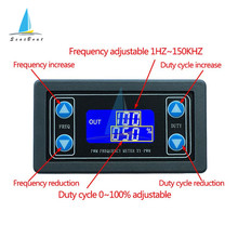 Signal-Generator Rectangular Display Square Wave Frequency-Duty Pulse Ratio Digital Adjustable
