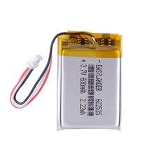 Bateria litowo-polimerowa 3.7 V,600 1.0 3p 602535 wymień na Yi kamera na deskę rozdzielczą Mio MiVue 310 DVR kamera samochodowa 582535
