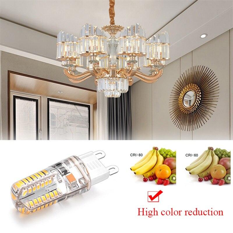 Dozzlor G9 Led Bulb Replace Halogen Lamp 9W 64LED 12W 104LED AC 220V Durable Ultra Bright Led Bulb Saves Energy