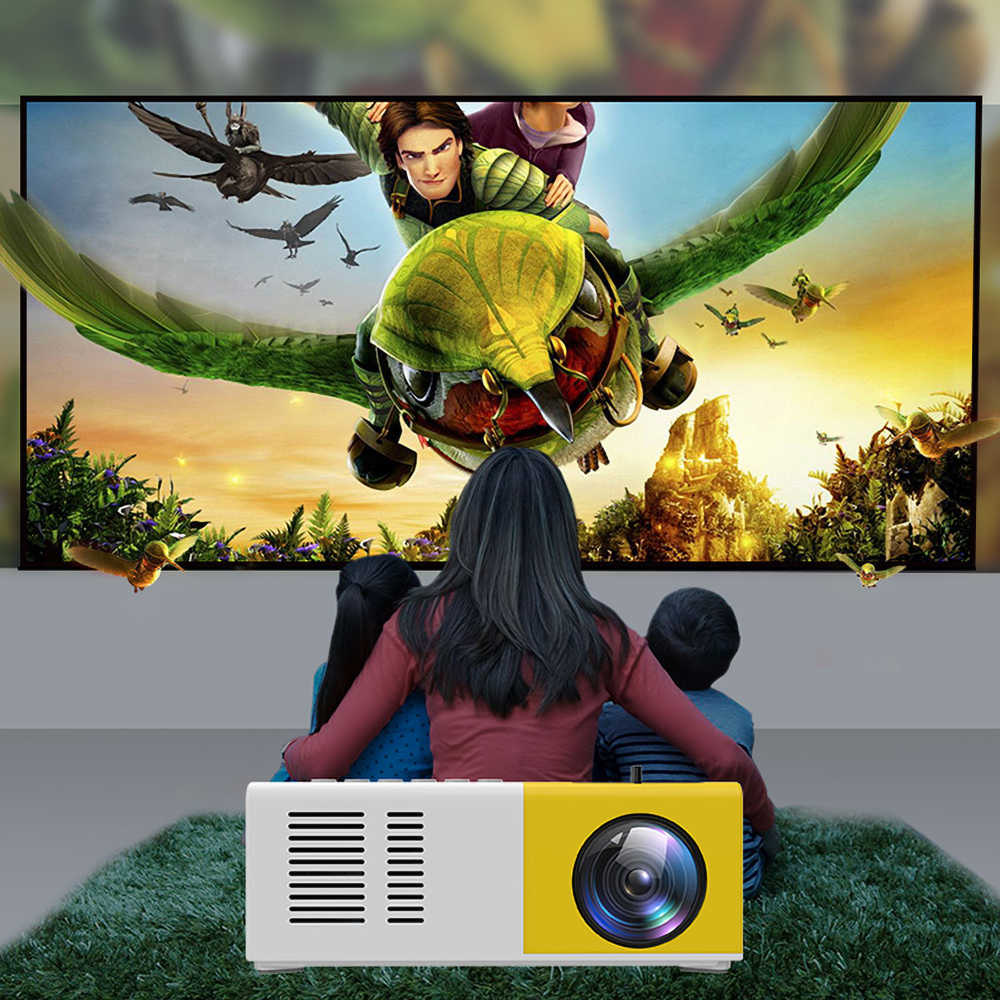 J9 HA CONDOTTO il Mini Proiettore 1080P Proiettore Del HD Ultra Proiettori Mini Telefono Delle Cellule di Supporto Del Proiettore Multimedia Home Theater
