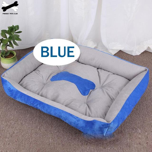 Bone Pet Bed Warm Pet Products For Small Medium Large Dog Soft Pet Bed For Dogs Washable House For Cat Puppy Cotton Kennel Mat 4