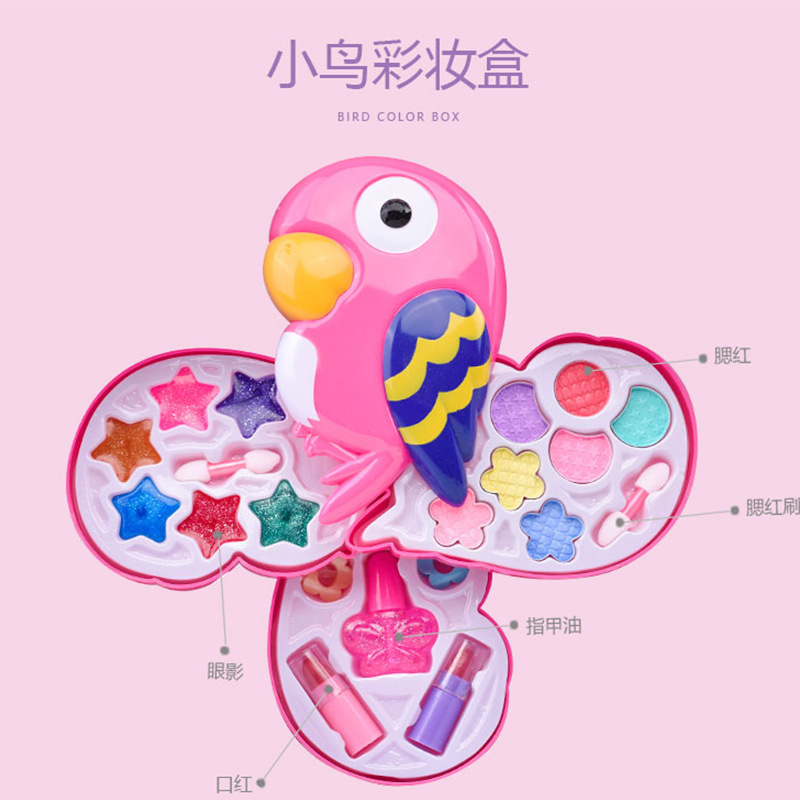 New Style Children Cosmetics Set GIRL'S Play House Toys Girls Parrot Makeup Colorful Box Gift|Bicycle Bags & Panniers| |  - title=