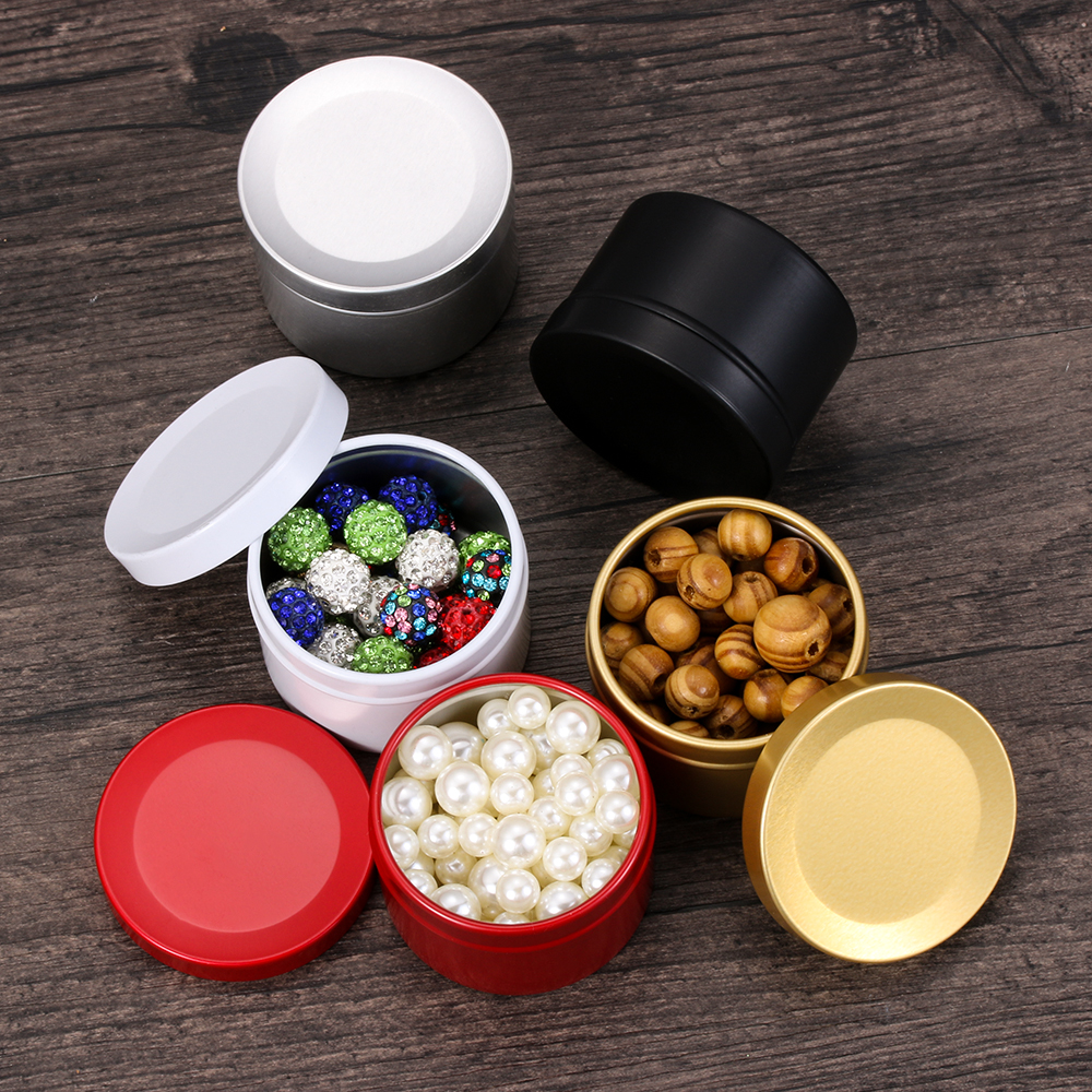 1pc Chic Cute Round cartoon style bowl Metal Cans Canisters Kitchen Storage Tins
