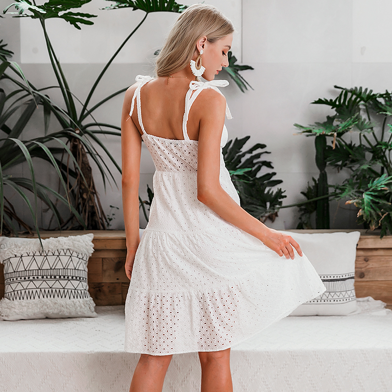 Embroidery Midi Summer Dress
