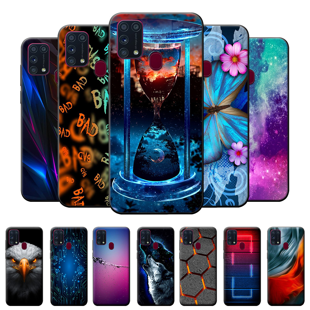For Samsung M31 Case TPU Case For Samsung Galaxy M31 Case on M315F Silicone Soft Phone Cover For Samsung M31 M 31 Fundas Fox 6.4