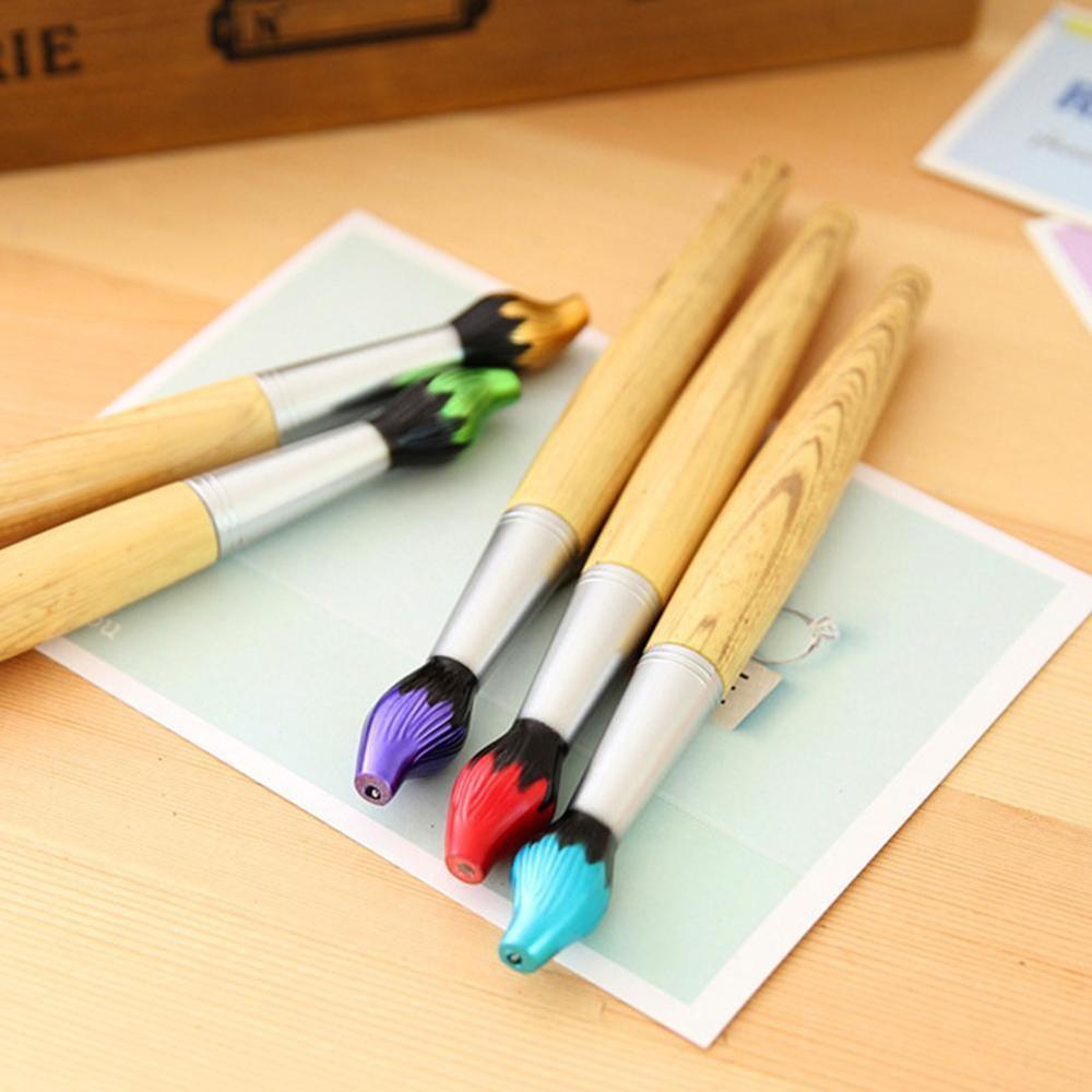Cute Kawaii Wooden Ballpoint Pen Creative Ball Pens For Kids Writing Students Children School Gift Novelty Korean Stationery