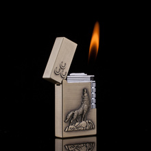 Ping Sound Metal Lighter Wolf Totem Cigarette Lighters Creat
