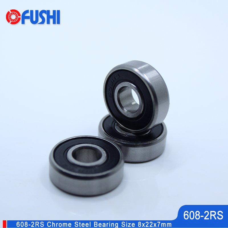 608-2RS Bearing 8x22x7 mm 10PCS Miniature 3D Printer Parts Accessories Wheel Skateboard 608 RS Ball Bearings 608 2RS image