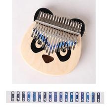 17 клавиш Калимба шкала Примечание наклейка палец перкуссия музыка детали доступ дети подарок комплект для новичка ученика музыкальный набор