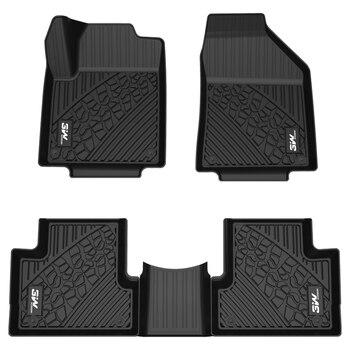 Alfombrilla de suelo TPE de 3W para Jeep-nuevo Wrangler 3D escaneado de inyección de una sola pieza modelo dedicado antideslizante resistente al desgaste patrón