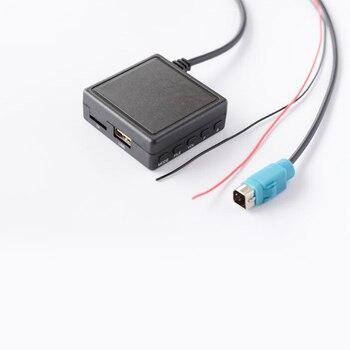Biurlink-unidad Flash auxiliar estéreo para coche, adaptador de Audio TF, llamada telefónica,...