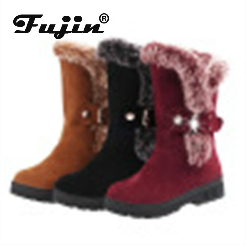 Cotton Boots Female Large-Size Winter Women New Warm Buckle Fujin Plush Solid Suede 36-41