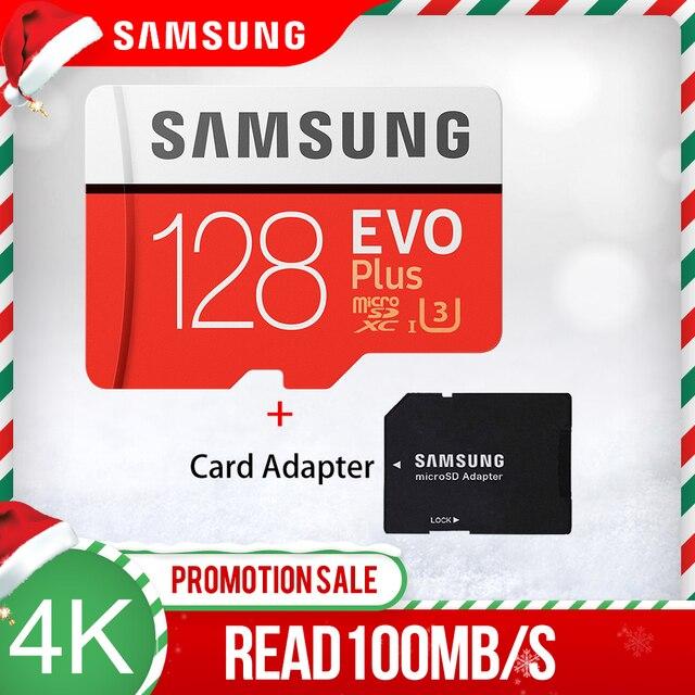 SAMSUNG carte mémoire micro sd EVO Plus, classe 10, étanche, pour téléphone intelligent, 32 go/64 go/128 go/256 go/512 go, TF