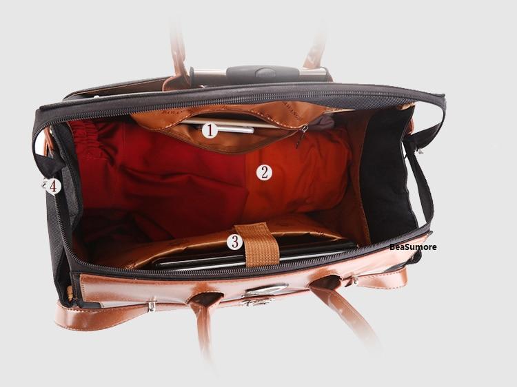 Beasumore multifuncional oxford rolando bagagem 18 Polegada