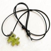 Натуральные бусины из оливина подвеска смолы ожерелье с энергией