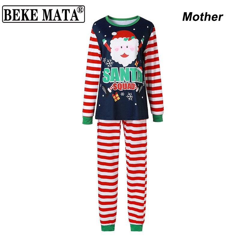 Семейная сочетающаяся Рождественская Пижама 2020 зимняя одежда