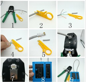 Image 5 - Professional  RJ45 RJ11 RJ12 CAT5 CAT5e CAT6 Portable LAN Network Repair Tool Kit Utp Cable Tester AND Plier Crimp Crimper Plug