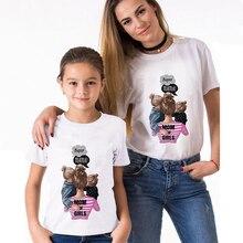 Family-Look Fashion T-Shirt Super-Mama Son Print Sexemara Mom's-Tee Aesthetic Streetwear