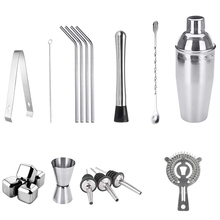 Cocktail Set, 18 Pcs Cocktail Making Set, Stainless Steel Bartender Kit with 750ML Boston Cocktail Shaker for Party, Bar
